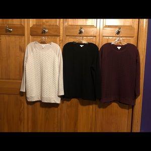 Set of 3 J Jill Sweatshirts